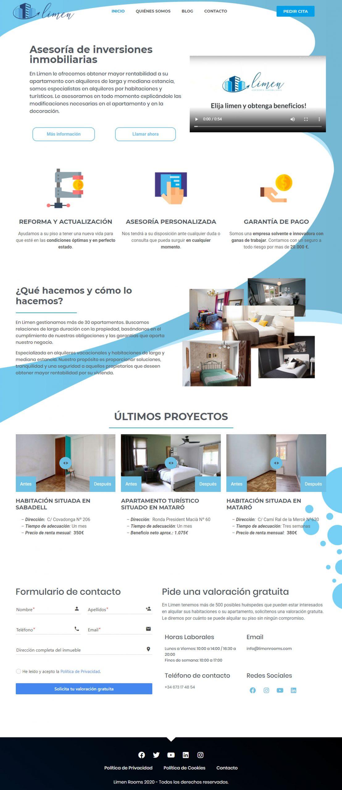 Limen Rooms Website