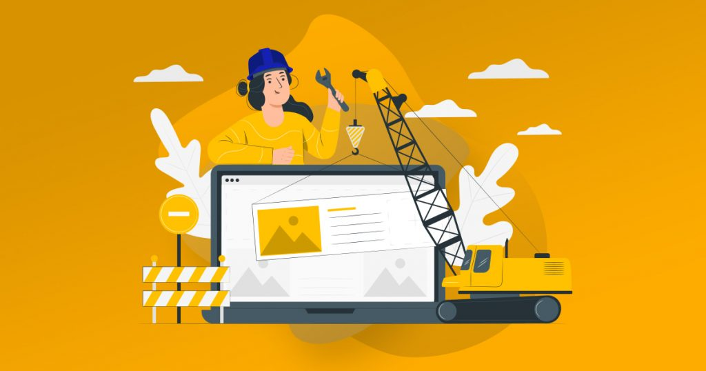 mantenimiento web ilustración