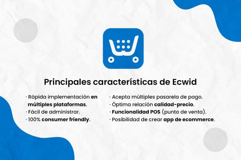 Principales características de Ecwid