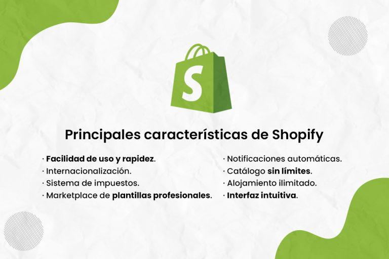 Principales características de Shopify