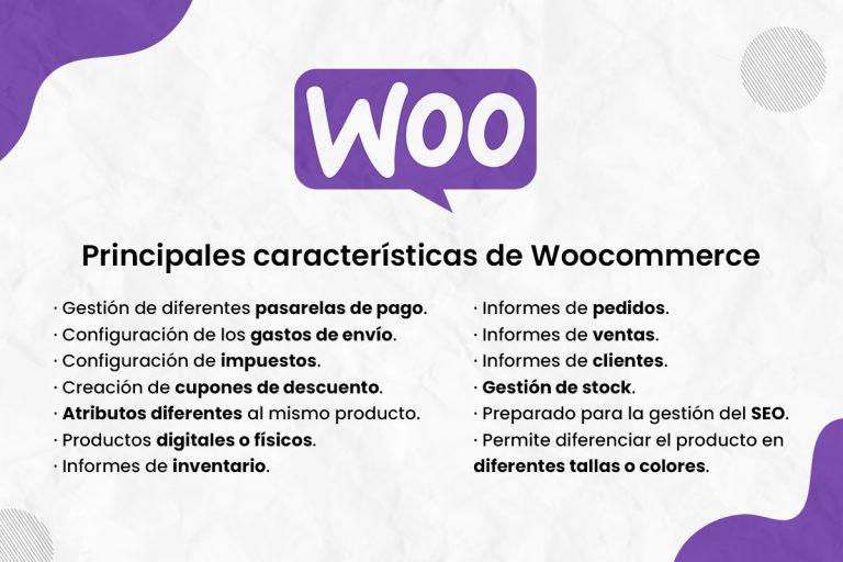 Principales características de Woocommerce